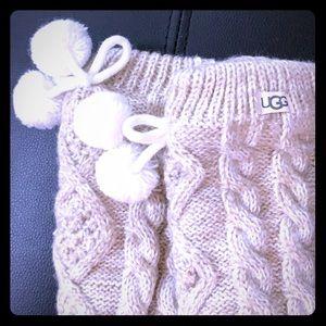NWT ugh fleece lined Pom Pom socks